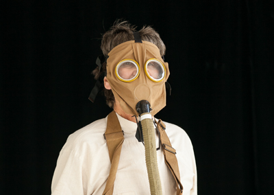 Gas mask, close-up